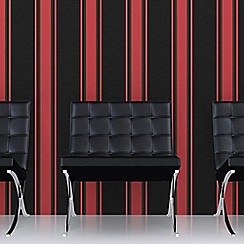 Superfresco - Black&Red Orla Wallpaper