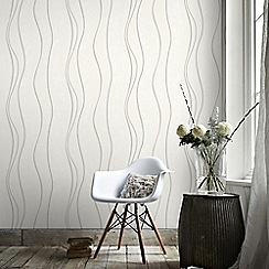 Superfresco - White&Silver Elan Wallpaper