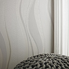Superfresco - Grey&Silver Elan Wallpaper