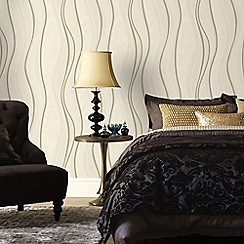 Superfresco - Cream & Gold Elan Wallpaper