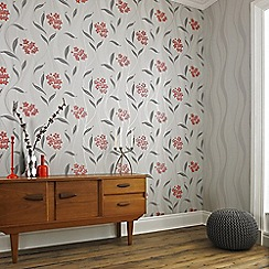 Superfresco - Grey Elise Wallpaper
