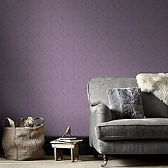 Graham & Brown - Purple Savannah Wallpaper