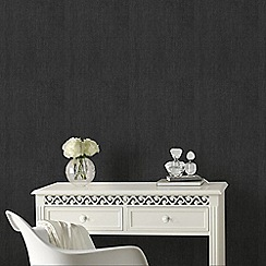 Graham & Brown - Black Organza Wallpaper