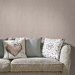Graham & Brown - Brown Latte Crushed Silk Wallpaper