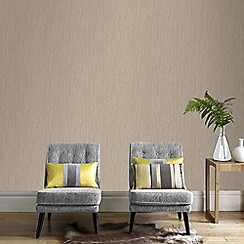 Graham & Brown - Gold Crushed Silk Wallpaper