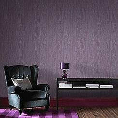 Graham & Brown - Purple Crushed Silk Wallpaper