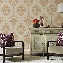 Superfresco - Gold&Neutral Olana Wallpaper