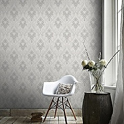 Superfresco - Grey Royale Grey Wallpaper