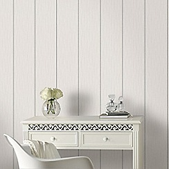 Superfresco - White & Silver Stria Stripe Wallpaper