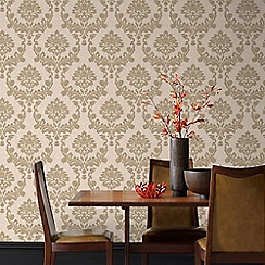 Graham & Brown - Gold & Natural Dynasty Wallpaper