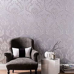 Graham & Brown - Silver & Grey Oxford Wallpaper