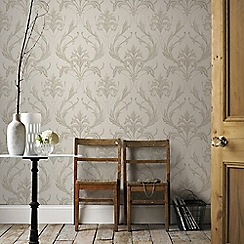 Graham & Brown - Cream Oxford Wallpaper
