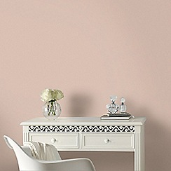 Graham & Brown - Plain Peach Sofia Wallpaper