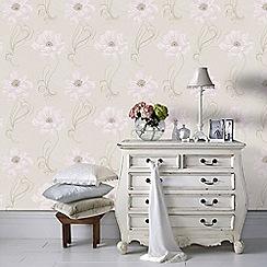 Graham & Brown - Cream & Beige Sofia Wallpaper