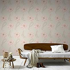 Graham & Brown - Peach Sofia Wallpaper
