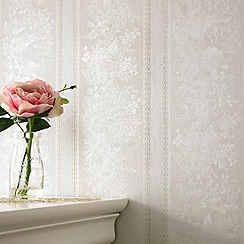 Superfresco - Beige Floral Stripe wallpaper