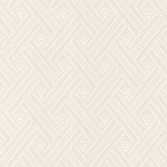 Superfresco Paintables - White Geometric  Wallpaper