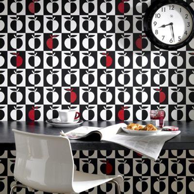 Contour Black Orchard Wallpaper - . -