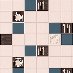 Contour - Teal Dinner Time Wallpaper