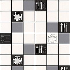 Contour - Black Dinner Time Wallpaper