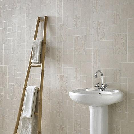 Contour - Taupe Solitude Tile Wallpaper