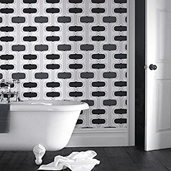 Contour - Black Groovy Wallpaper