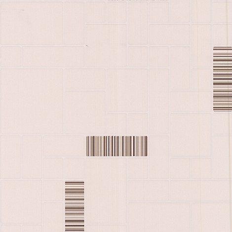 Contour - Beige Barcode Tile Wallpaper