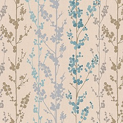Superfresco Easy - Teal Berries Wallpaper