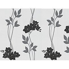 Superfresco Easy - Black/White Serene Wallpaper