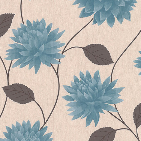 Superfresco Easy - Teal Romance wallpaper