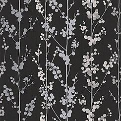 Superfresco Easy - Black/White Berries Wallpaper