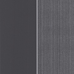 Kelly Hoppen - Charcoal Bold stripe wallpaper