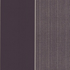 Kelly Hoppen - Grape/gold Bold stripe wallpaper