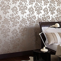 Kelly Hoppen - Gold/taupe Rose wallpaper