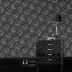 Superfresco Easy - Black Flourish wallpaper