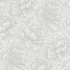 Superfresco Easy - White Flourish Wallpaper