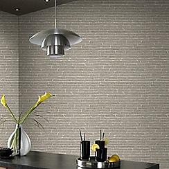 Superfresco Easy - Grey Brick Effect Wallpaper