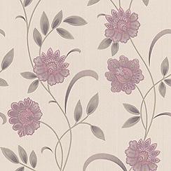 Premier - Lavender/Cream Sadie  Premier Wallpaper