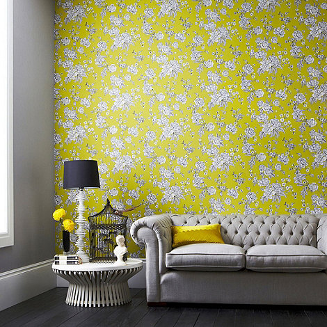 Superfresco Easy - Chartreuse Kensington Wallpaper