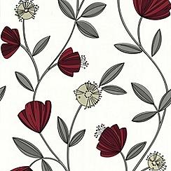 Superfresco Easy - Red Capri Wallpaper