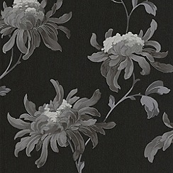Julien Macdonald Home - Black Fabulous Wallpaper