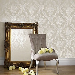 Julien Macdonald Home - Taupe Glimmerous Wallpaper