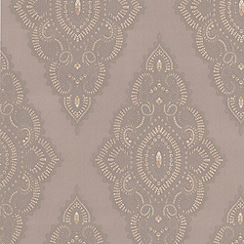 Julien Macdonald - Taupe Jewel Wallpaper