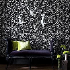 Julien Macdonald Home - Black Easy Tiger Wallpaper