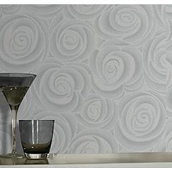 Premier - Silver Bella Wallpaper