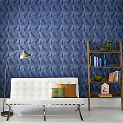 Premier - Blue Interlace Wallpaper