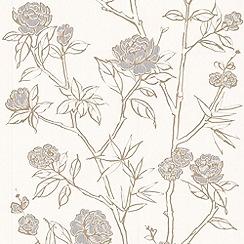 Graham & Brown - White Hua Wallpaper