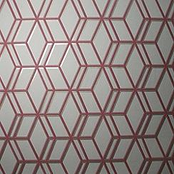 Graham & Brown - Beige/Red Ling Wallpaper