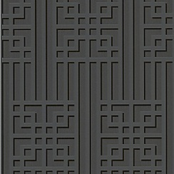 Graham & Brown - Black Bao Wallpaper