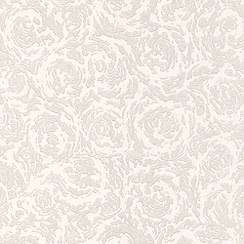 Superfresco Paintables - White Swirl Wallpaper